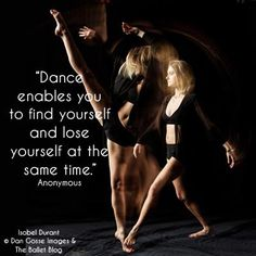 Find yourself and lose yourself with dance. http://www.theballetblog.com/
