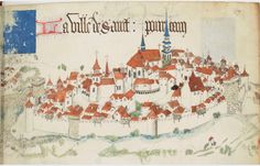 « Registre d'armes » ou armorial d'Auvergne, dédié par le hérault Guillaume REVEL au roi Charles VII. Date d'édition : 1401-1500 Français 22297 Folio 27