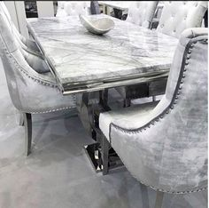 dc12e708ae Our Grey Arianna Marble Dining Table, delivery available, instore and  online to order.