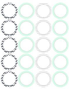 Circular printable labels by @catherine gruntman Auger