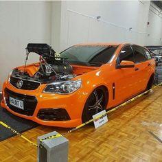 """""""HAUNTU"""" Blown VF wagon. @burnoutsofaus #holden #vfwagon #blowntobeknown #aussiessickest Holden Wagon, Aussie Muscle Cars, Wagon Cars, Holden Commodore, Badass, Chevy, Street, Vehicles, Instagram Posts"""