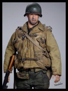 Ranger En La 2ª Guerra Mundial, Fotos Nuevas Small Soldiers, Toy Soldiers, Military Action Figures, Custom Action Figures, Military Gear, Military History, Us Army Uniforms, American Uniform, Film Star Trek