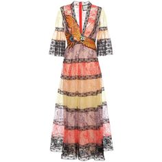 Gucci Embellished Lace Dress ($6,990) ❤ liked on Polyvore featuring dresses, gucci, multicoloured, embellished cocktail dress, lacy dress, lace cocktail dress and multi-color dress