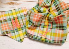 Pet and Owner Set  Personalized Bandana and Scarf.  by CollarRap