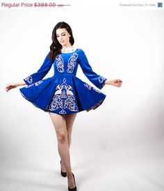 ON SALE 40 OFF  Vintage Irish Dance Dress  Irish by aiseirigh, $232.80