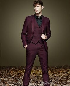Dark Red Suit, Formal Wear, Mens Fashion, Suits, Vampires, Style, Wedding, Moda Masculina, Swag