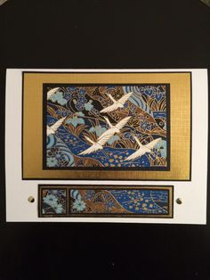 handmade card by Rosanne Stead... showcasing beautiful Japanese papers in matted panels ...