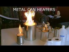 "The best DIY projects & DIY ideas and tutorials: sewing, paper craft, DIY. Homemade ""Metal Can"" Air Heater! - DIY (uses no electricity!) Video Description Homemade Metal Can Air Heater DIY. no grid"