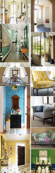 INTERIOR DECORATING/HOME - Foyer Inspiration - Merriment Style Blog - Merriment - A Celebration of Style and Substance