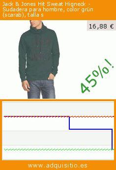 Jack & Jones Hit Sweat Higneck - Sudadera para hombre, color grün (scarab), talla s (Ropa). Baja 45%! Precio actual 16,88 €, el precio anterior fue de 30,95 €. https://www.adquisitio.es/jack-jones/hit-sweat-higneck-8