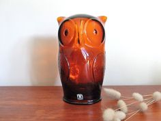 Vintage-cascade-glass-owl-money-bank