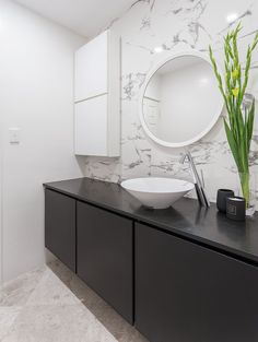North Perth bathroom renovation by Retreat Design featuring Karol 'Urban Chic' cabinetry and Gessi 'Cono' accessories and tap ware // #bathroom #bathroomdesign #renovation #interiordesign #designideas