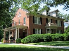 Brick Colonial homes | beautiful red brick colonial - historical