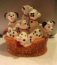 Disney Schmid 101 Dalmatians Music Box Ceramic Figurine