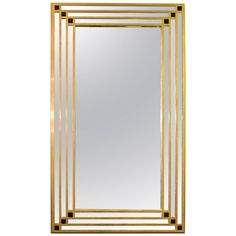 View this item and discover similar for sale at - Mirror all cross tubes made of brass. Enriched with small black glasses. Brass Mirror, Antique Mirrors, Wall Mirrors, Mirror Mirror, Antique Furniture, Modern Furniture, Art Pages, Home Accessories, 1950s
