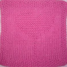 Knitting Pattern For A Heart Shape : Heart Balloon Trio Knit Dishcloth Pattern knitting ...