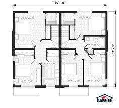 Narrow House Plans, Case, Floor Plans, Dreams, How To Plan, Design, Home Decor, Home Plans, Architecture