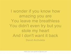 """Notice Me"" #David #Archuleta"
