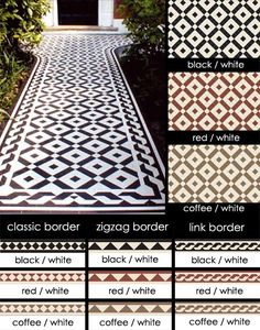 When I finally get around to my front path - traditional Geometric Encaustic Tiles for Victorian Floors