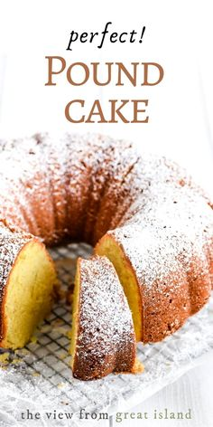 Perfect Buttermilk Pound Cake is made with the classic ratio of butter, sugar, eggs and flour. This easy bundt cake always comes out perfect! #easy #recipe #poundcake #bundt #cake #dessert #buttermilk #fromscratch