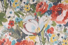 Mill Creek Lepore - Parkside Printed Cotton Drapery Fabric in Kaleidoscope