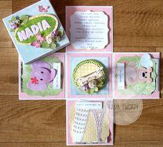 Kasia tworzy: kartki, albumy i inne rękodzieło: Prezent na roczek dla dziewczynki