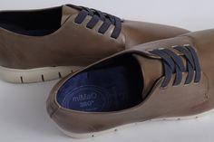 miMaO Urban S 360 Sumatra – zapato cómodo hombre plano extraligero cómodo piel marrón- Comfort men's flat shoes trainers brown leather extralight