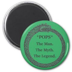 Customizable Magnet MAN MYTH LEGEND black/green Presents For Men, Gifts For Dad, Fathers Day Gifts, Detail Shop, Inexpensive Gift, Round Magnets, Diy Face Mask, Best Gifts, Give It To Me