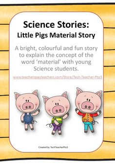 Little Pigs Material Story! is a bright and fun short story which has been used… Science Vocabulary, Primary Science, Third Grade Science, Science Student, Elementary Science, Teaching Chemistry, Science Chemistry, Science Fair, Mad Science