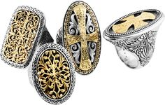 Konstantino Jewelry, exclusively carried at G. Thrapp Jewelers in Indianapolis, IN. Konstantino jewelry from Greece is known throughout the world for its unique designs and remarkable artisanship. All Konstantino adornments are still individually crafted in Athens and are created from sterling silver and 18 karat gold. Collections are inspired by art, architecture, mythology, and people of Greece as fused through the creative genius of Konstantino Sioulas