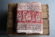 vintage cotton indian blanket throw bedspread