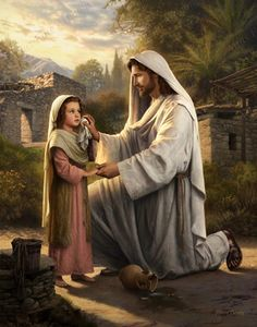 """And God shall wipe away all tears from their eyes. ~ Rev 21:4Each of us experience times of sorrowful tears, disappointment, and heartache. As with this little child, Jesus reaches out to us and asks – as he did Mary Magdalane at the tomb – """"why..."""