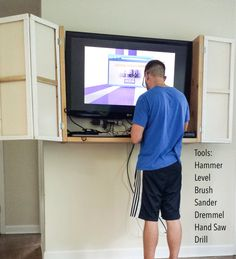 Easy and cheap wall mounted TV cabinet DIY projects to try