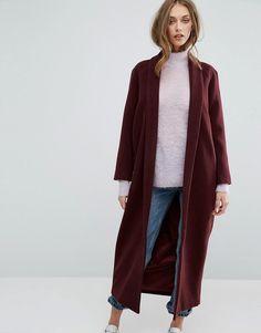 Missguided Shawl Collar Maxi Coat