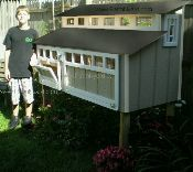 I love these Chicken Coops: www.farmnyard.com