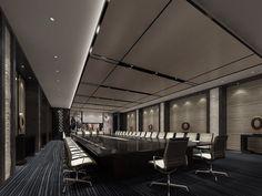 Solemn conference room 3D design