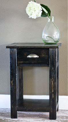 Barn wood projects on pinterest reclaimed barn wood for Simple nightstand designs