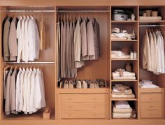 Inside of wardrobe