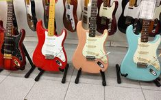 decisions decisions... #pickyours #fenderguitars #fender #stratocaster #strat #strato #love #pastel #color #koa #wood #pantone #guitarra #guitar #tele #telecaster #guitarshop #barcelona #insta #instagram #instadaily