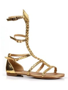 4b9e2932b700 Girl s Gladiator Flat Gold Sandals