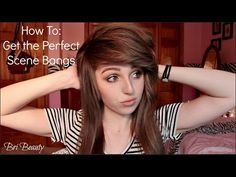 how to get the perfect scene bangs - YouTube