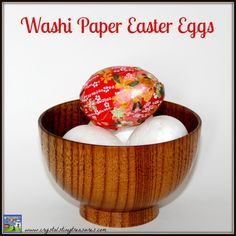 I love washi paper! It's so colourful and can be used for so many different things! This year I've made a washi paper Easter egg.