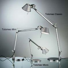 Artemide - Tolomeo: un pieza básica en la iluminación de cualquier estáncia. Ideal para la iluminación global de la vivienda, una iluminación puntual o simplemente para un escritorio o zona de lectura.