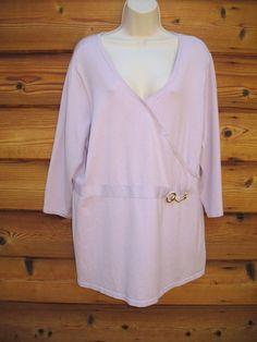 inc international concepts Sweater Top Silk Blend 2 X Horsebit 3/4 Sleeves NEW #INCInternationalConcepts #Sexy