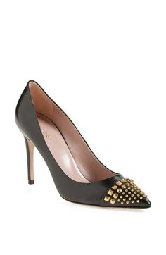 Gucci 'Coline' Studded Cap Toe Pump available at #Nordstrom