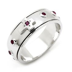 Rosary Ring Sterling Silver Christian Ring RS078 LOVE!!!!