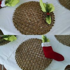 Decoração de Natal - sousplat