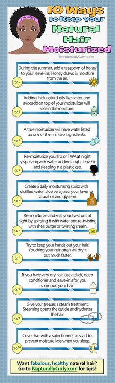 It's super important to keep your natural hair moisturized. Keep these tips in mind