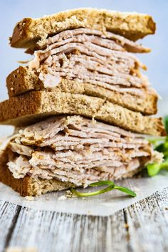 Instant Pot DIY Sandwich Meat is a regular meal prep staple over here. This is a batch style recipe that can be frozen after cooking. Super easy lean protein snacks, salad add in, or rolled with hummus. Your choice! Instant Pot Pressure Cooker, Pressure Cooker Recipes, Pressure Pot, Pressure Cooking, Slow Cooker, Cheap Instant Pot, Turkey Lunch Meat, Meat Recipes, Cooking Recipes