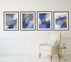 Set of 4 Abstract Framed Wall Art - Rectangle #41-44  sc 1 st  Pinterest : wall art for hallways - www.pureclipart.com